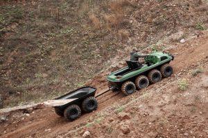 Tinger Armor ATV fährt auf Sand
