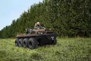 Tinger Armor auf der Wiese vor dem Wald